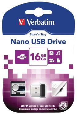 Флеш-память USB Verbatim 16GB Store N Stay Nano [97464]
