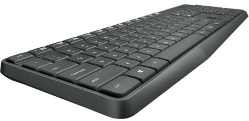 Клавиатура+Мышь Logitech MK 235 Grey Wireless [920-007948]