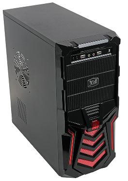 Корпус 3Cott 3C-ATX110GR Gladiator 500W Red