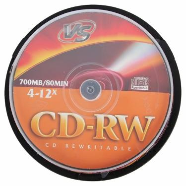 Диск CD-RW VS 700MB 4-12x Cake 10pcs