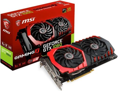 Видеоадаптер PCI-E MSI GTX 1060 GAMING X 6G