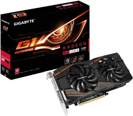 Видеоадаптер PCI-E Gigabyte GV-RX480G1 GAMING-8GD