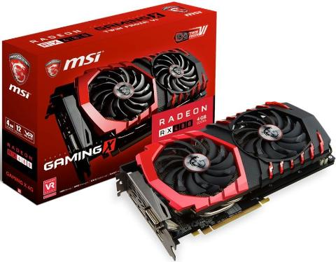 Видеоадаптер PCI-E MSI RX 480 GAMING X 4G