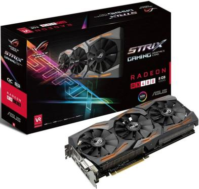 Видеоадаптер PCI-E ASUS STRIX-RX480-O8G-GAMING