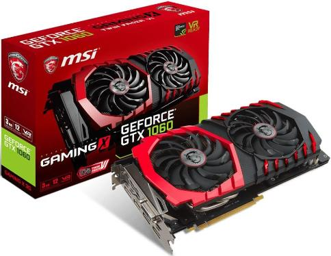 Видеоадаптер PCI-E MSI GTX 1060 GAMING X 3G