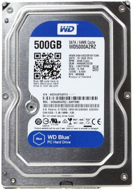 Жесткий диск 3,5' Western Digital 500GB Blue [WD5000AZRZ]