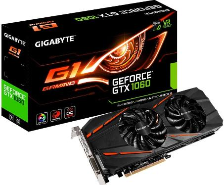 Видеоадаптер PCI-E Gigabyte GV-N1060G1 GAMING-3GD