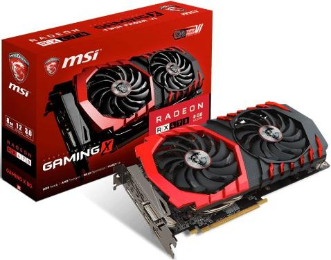 Видеоадаптер PCI-E MSI RX 470 GAMING X 8G