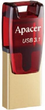 Флеш-память USB APACER 16GB AH180 Red [AP16GAH180R-1]