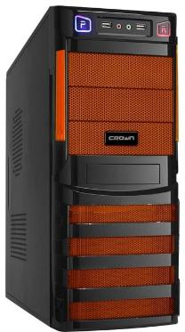 Корпус Crown CMC-SM162 450W Black/Orange