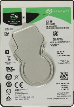 Жесткий диск 2,5' Seagate 500GB BarraCuda [ST500LM030]