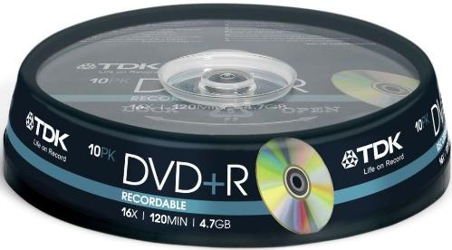 Диск DVD+R TDK 4,7Gb 16x Cake 10pcs [t19442]