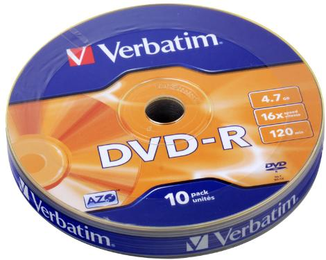 Диск DVD-R Verbatim 4,7GB 16x  Shrink 10psp [43729]