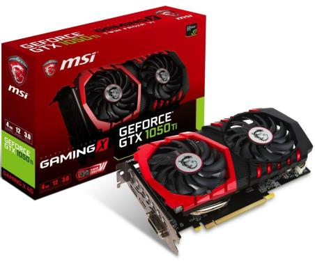 Видеоадаптер PCI-E MSI GTX 1050 Ti GAMING X 4G