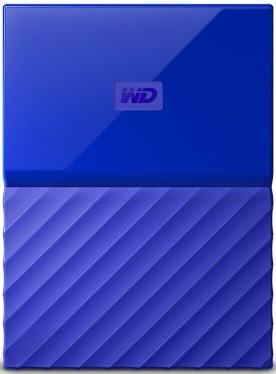 Жесткий диск внешний 2,5' Western Digital 1TB My Passport Blue [WDBBEX0010BBL-EEUE]