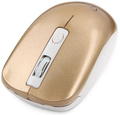 Мышь GEMBIRD MUSW-400-G Silent Gold-Rose Wireless