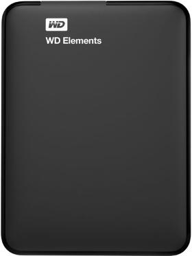 Жесткий диск внешний 2,5' Western Digital 500GB Elements Portable Black [WDBUZG5000ABK-WESN]