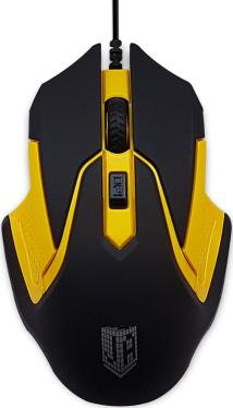 Мышь Jet.A OM-U57 Black-Yellow USB