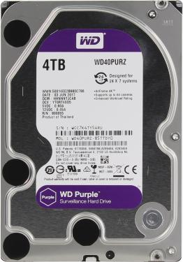 Жесткий диск 3,5' Western Digital 4TB Purple [WD40PURZ]