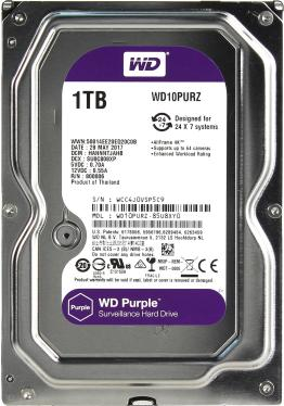 Жесткий диск 3,5' Western Digital 1TB Purple [WD10PURZ]
