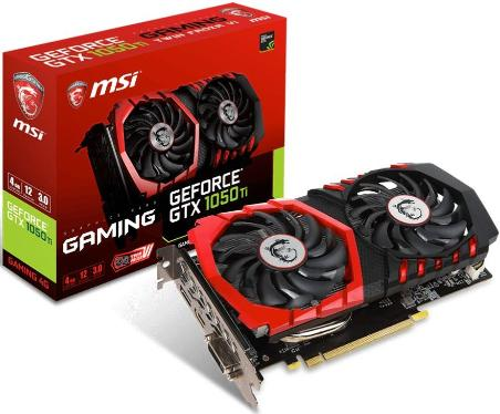 Видеоадаптер PCI-E MSI GTX 1050 Ti GAMING 4G