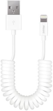 Кабель синхронизации USB->Apple Lightning Deppa 1.5m Twisted White [72120]
