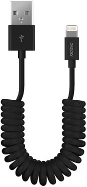 Кабель синхронизации USB->Apple Lightning Deppa 1.5m Twisted Black [72121]