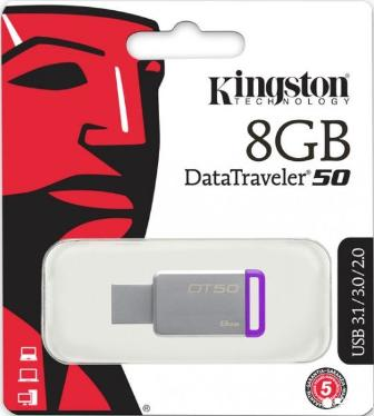Флеш-память USB KINGSTON 8GB DataTraveler 50 Purple [DT50/8GB]