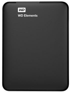 Жесткий диск внешний 2,5' Western Digital 1TB Elements Black [WDBMTM0010BBK-EEUE]